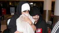 Blac Chyna and Rob Kardashian arrive together at LAX.