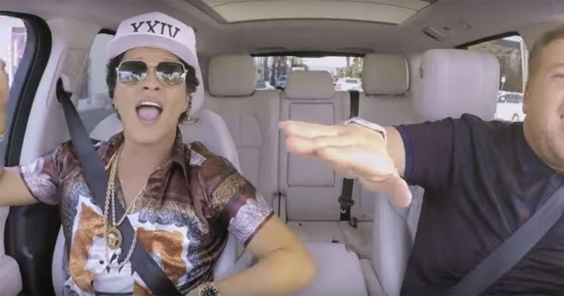 Bruno Mars and James Corden Sing '24K Magic' in Sneak Peek of Carpool Karaoke