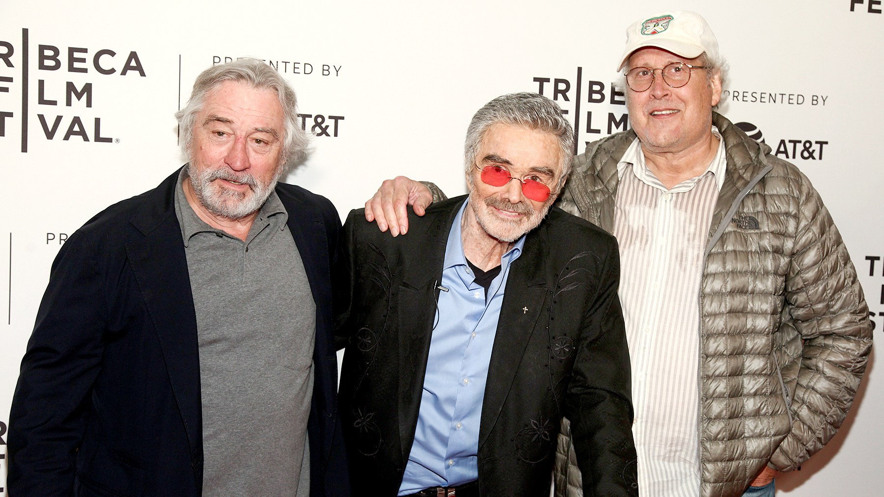"""Robert De Niro, from left, Burt Reynolds and Chevy Chase attend the screening of """"Dog Years"""", during the 2017 Tribeca Film Festival, at Cinepolis Chelsea on Saturday, April 22, 2017, in New York."""