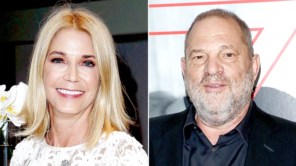 Candace Bushnell and Harvey Weinstein