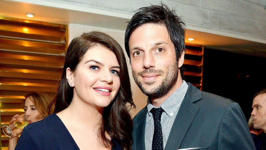"""Casey Wilson and David Caspe attend the premiere of Amazon's new series """"One Mississippi"""" on August 30, 2016 in Los Angeles, California."""