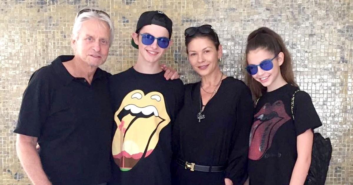 Catherine Zeta Jones Kids Hit The Desert Trip Festival Pic