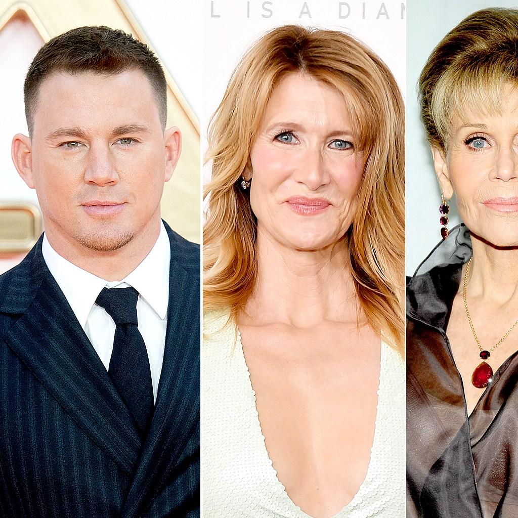 Channing Tatum, Laura Dern, and Jane Fonda