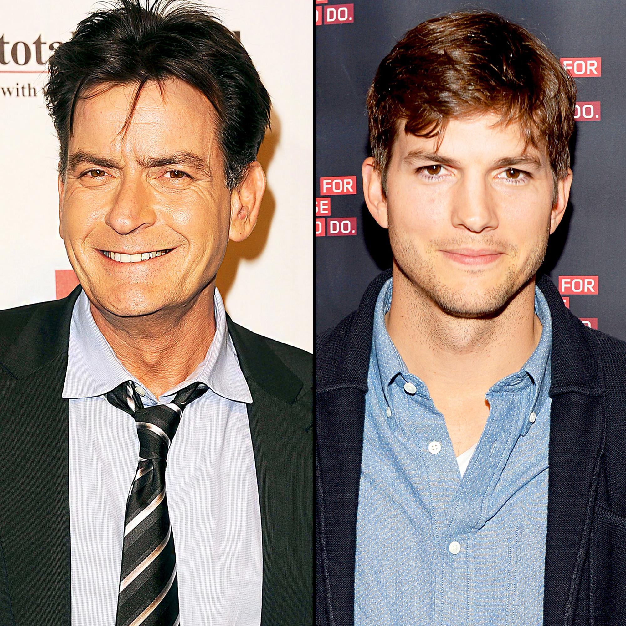 Charlie Sheen and Ashton Kutcher
