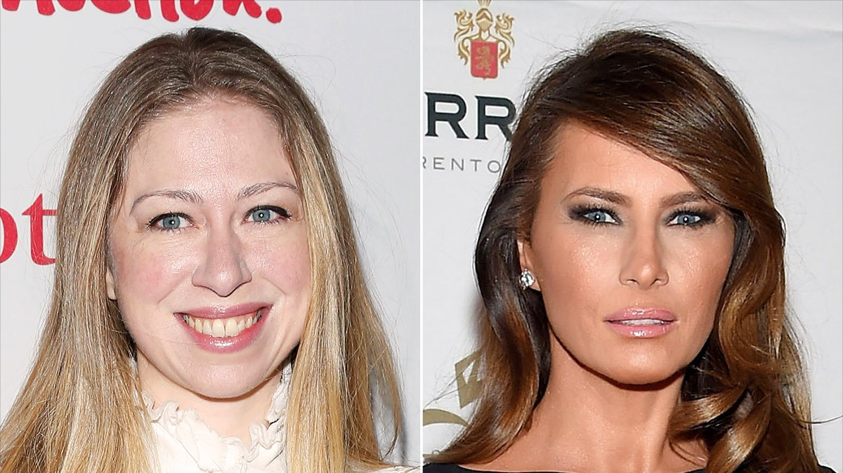 Chelsea Clinton and Melania Trump