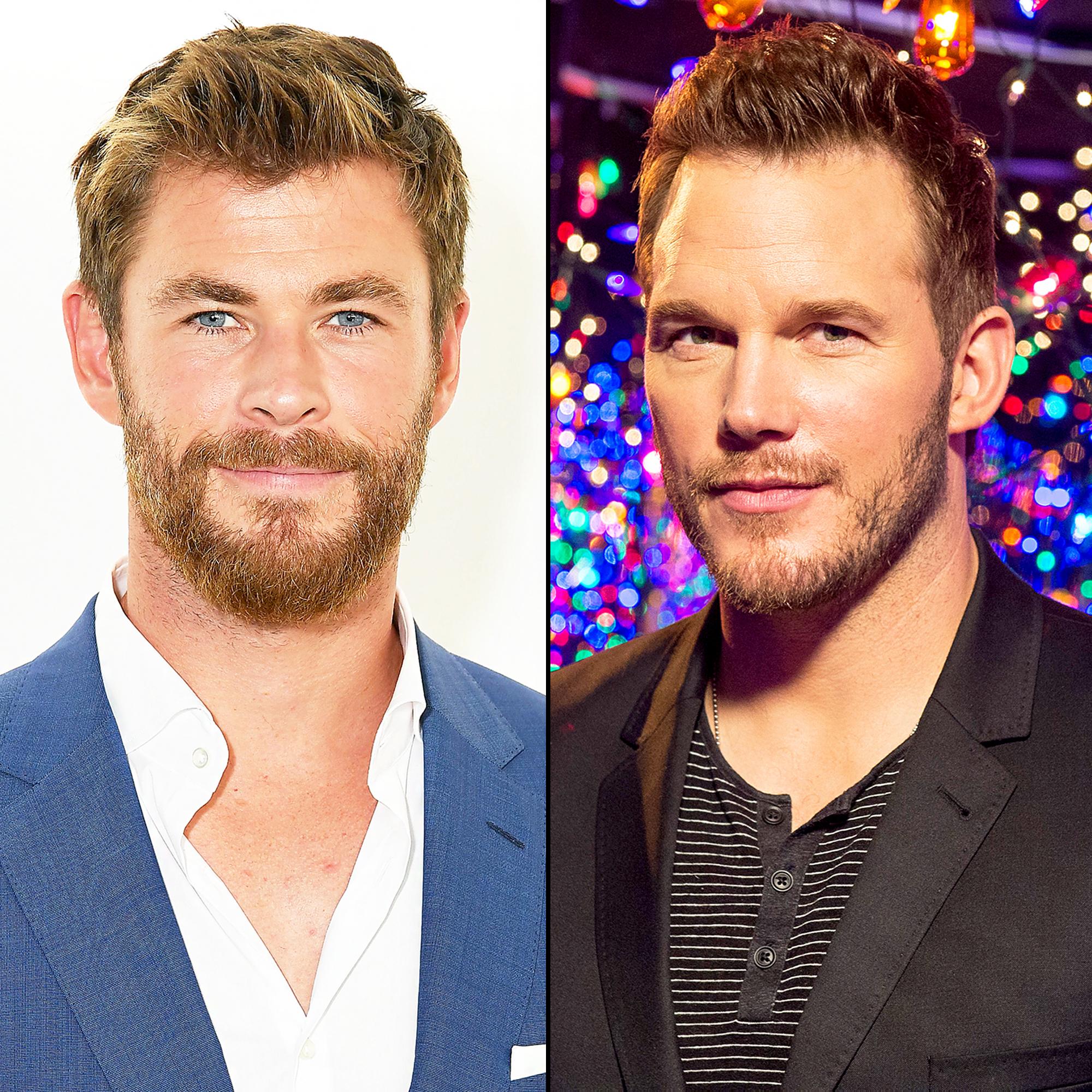 Chris Hemsworth and Chris Pratt