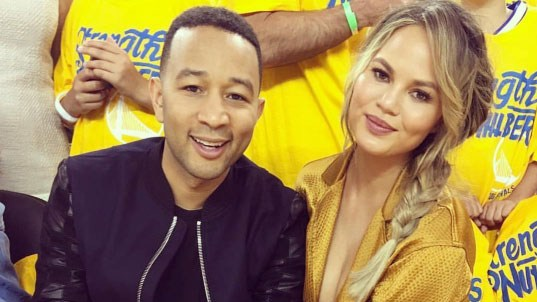Chrissy Teigen and John Legend introduced baby Luna to the world of NBA