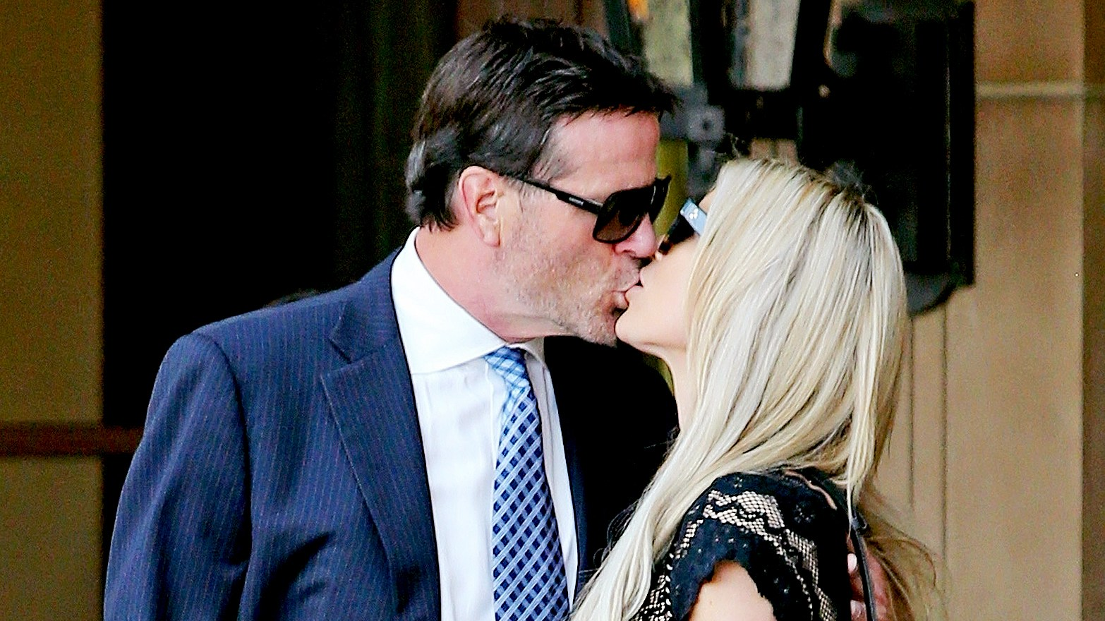 Christina El Moussa celebrates her birthday with a kiss from boyfriend Doug Spedding at the Montage hotel in the 90210.