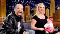 Ice-T and Coco Austin show off their daughter Chanel Nicole Marrow during an interview with host Jimmy Fallon on March 23, 2016