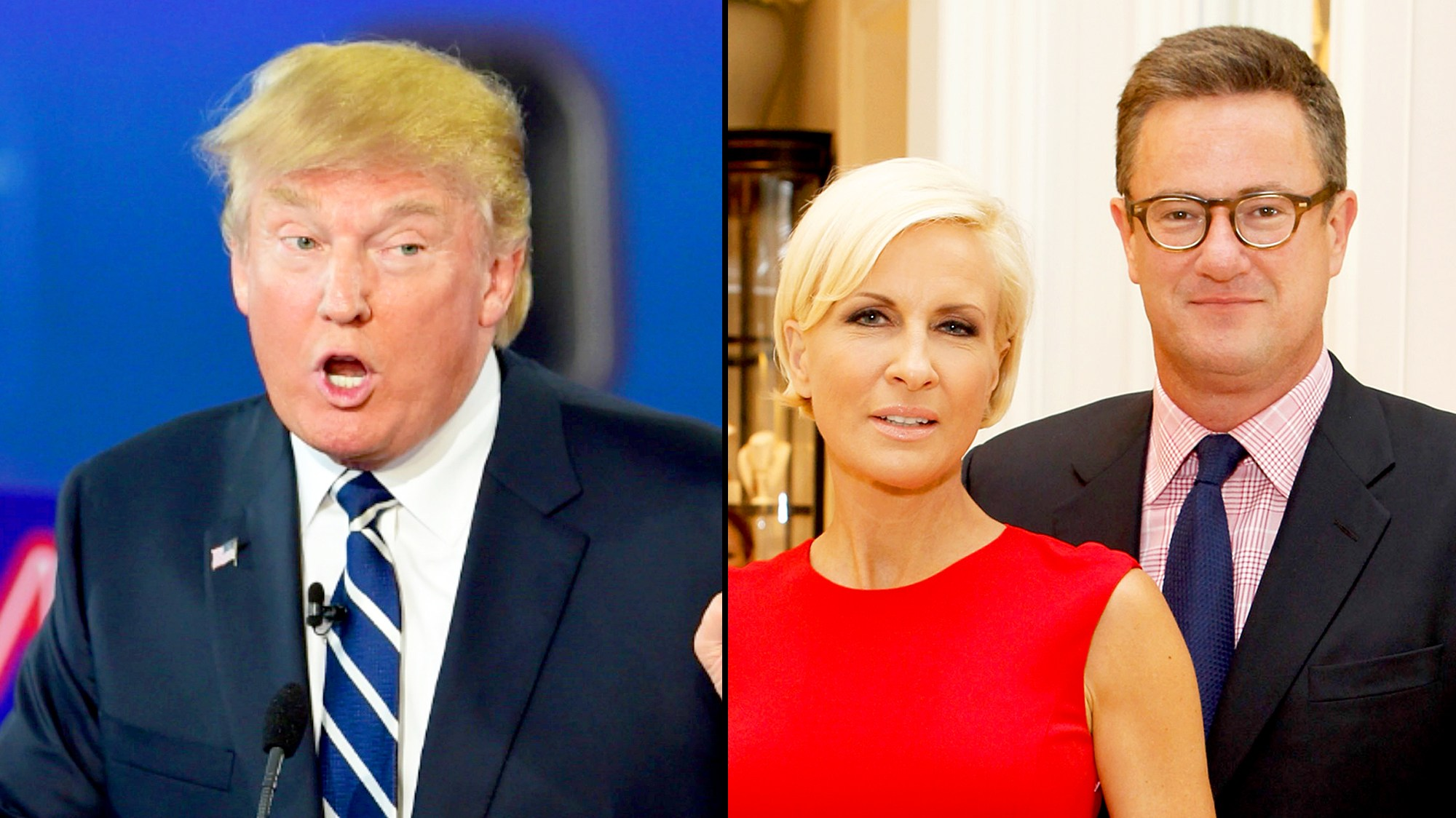 Donald Trump, Joe Scarborough and Mika Brzezinski