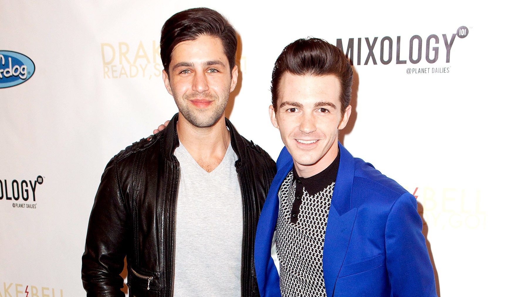 "Josh Peck and Drake Bell arrive for Drake Bell's ""Ready Steady Go!"" Album Release Party at Mixology101 & Planet Dailies on April 17, 2014 in Los Angeles, California."