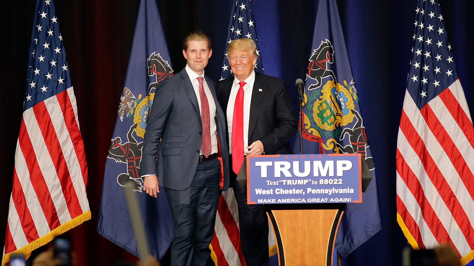 Eric Trump Donald Trum presidential election