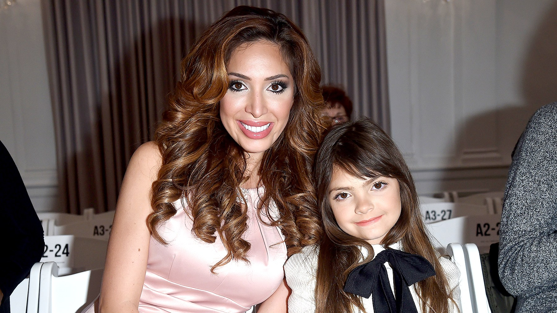 Farrah Abraham and her daughter Sophia Abraham attends Michelle Ann Kids + Bound By the Crown Couture Children's Wear fashion show during Fall 2016 New York Fashion Week on February 13, 2016 in New York City.