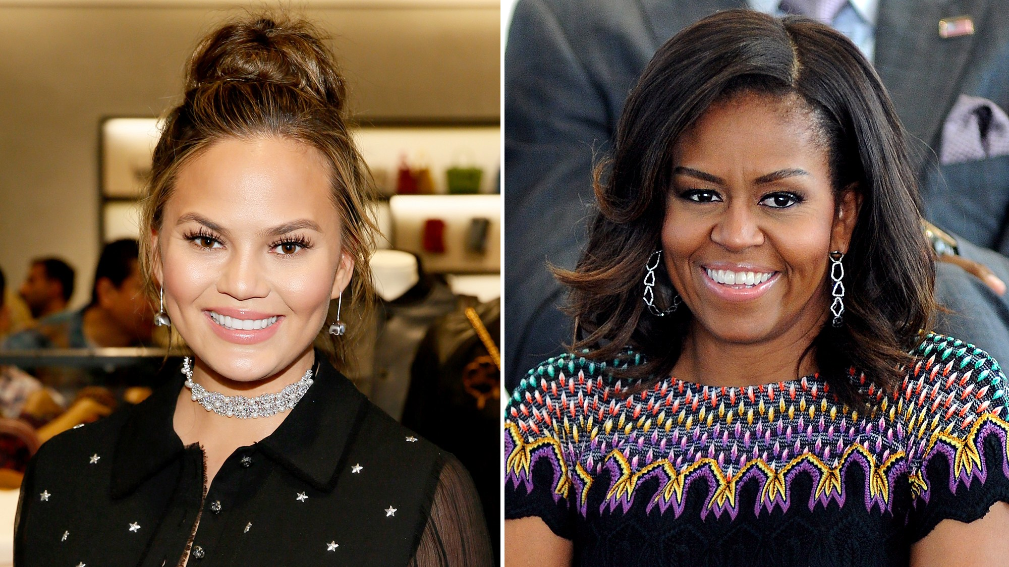 Chrissy Teigen Michelle Obama
