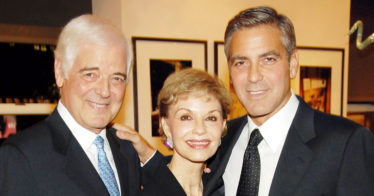 George Clooney S Dad The Twins Are Gorgeous Have Dark Hair