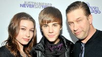 Justin Bieber was the center of attention Steven Baldwin and his daughter Haley at the New York City premiere of his 3-D film