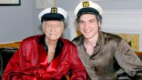 Hugh Hefner and Matt Whelan