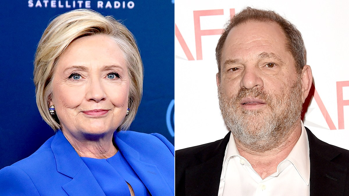 Hillary Clinton and Harvey Weinstein
