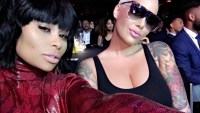 Blac Chyna Shows Off Post-Baby Body in Catsuit With Amber Rose