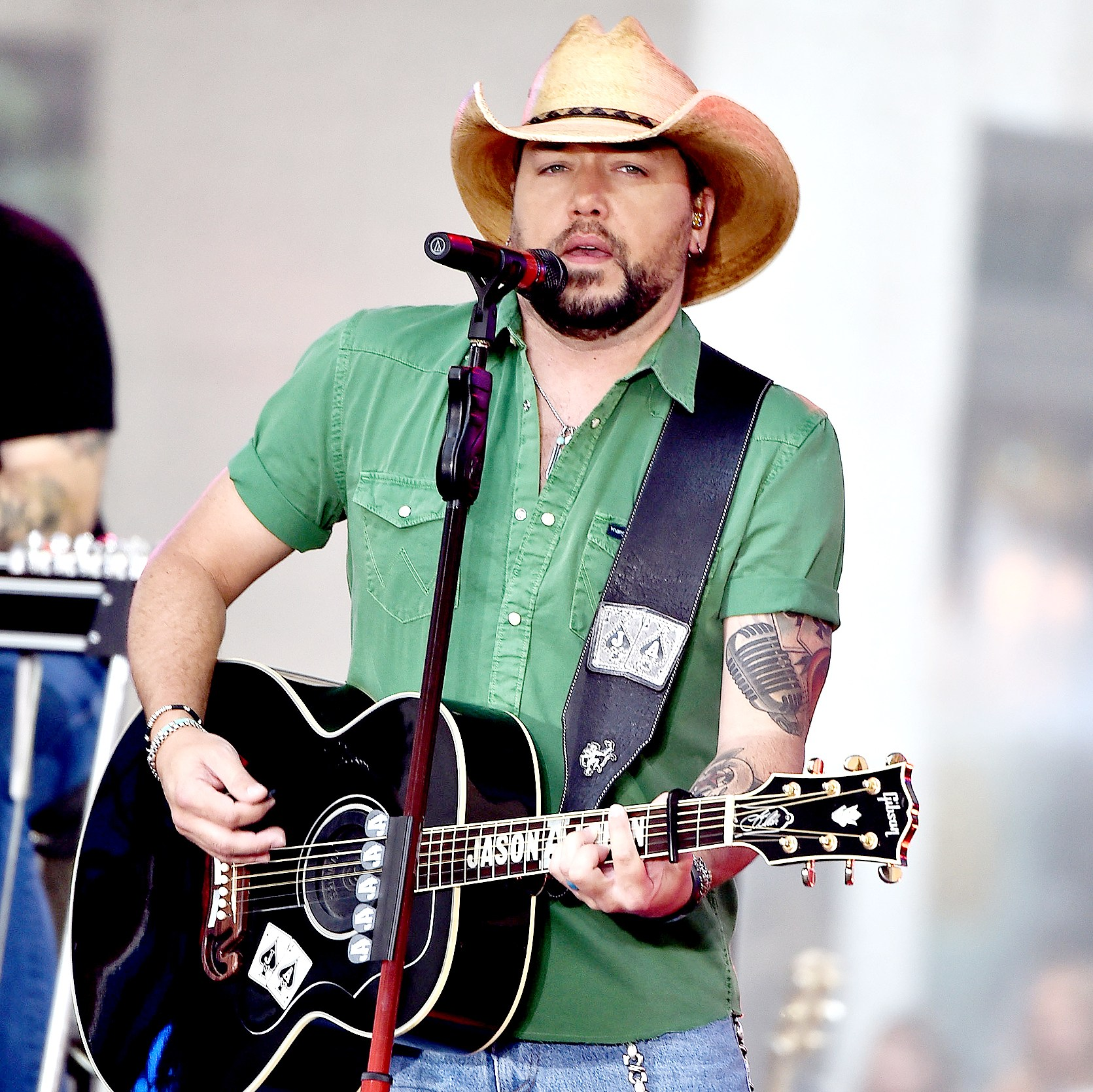 "Jason Aldean performs on NBC's ""Today"" at Rockefeller Plaza on August 25, 2017 in New York City."