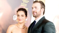 Jenny Slate and Chris Evans arrive at the premiere of Fox Searchlight Pictures' 'Gifted' at Pacific Theaters at the Grove in Los Angeles on April 4, 2017.