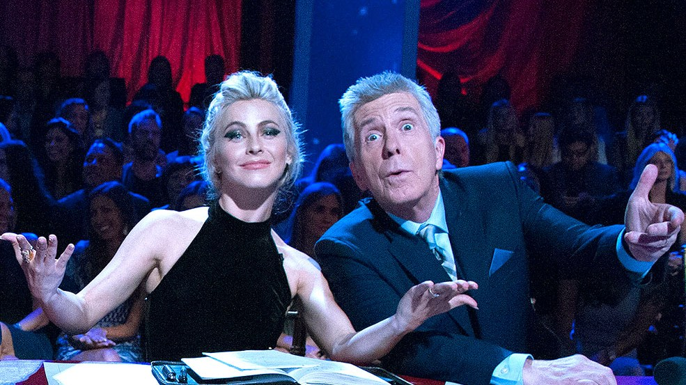 Julianne Hough and Tom Bergeron on Dancing With the Stars, Oct 24.