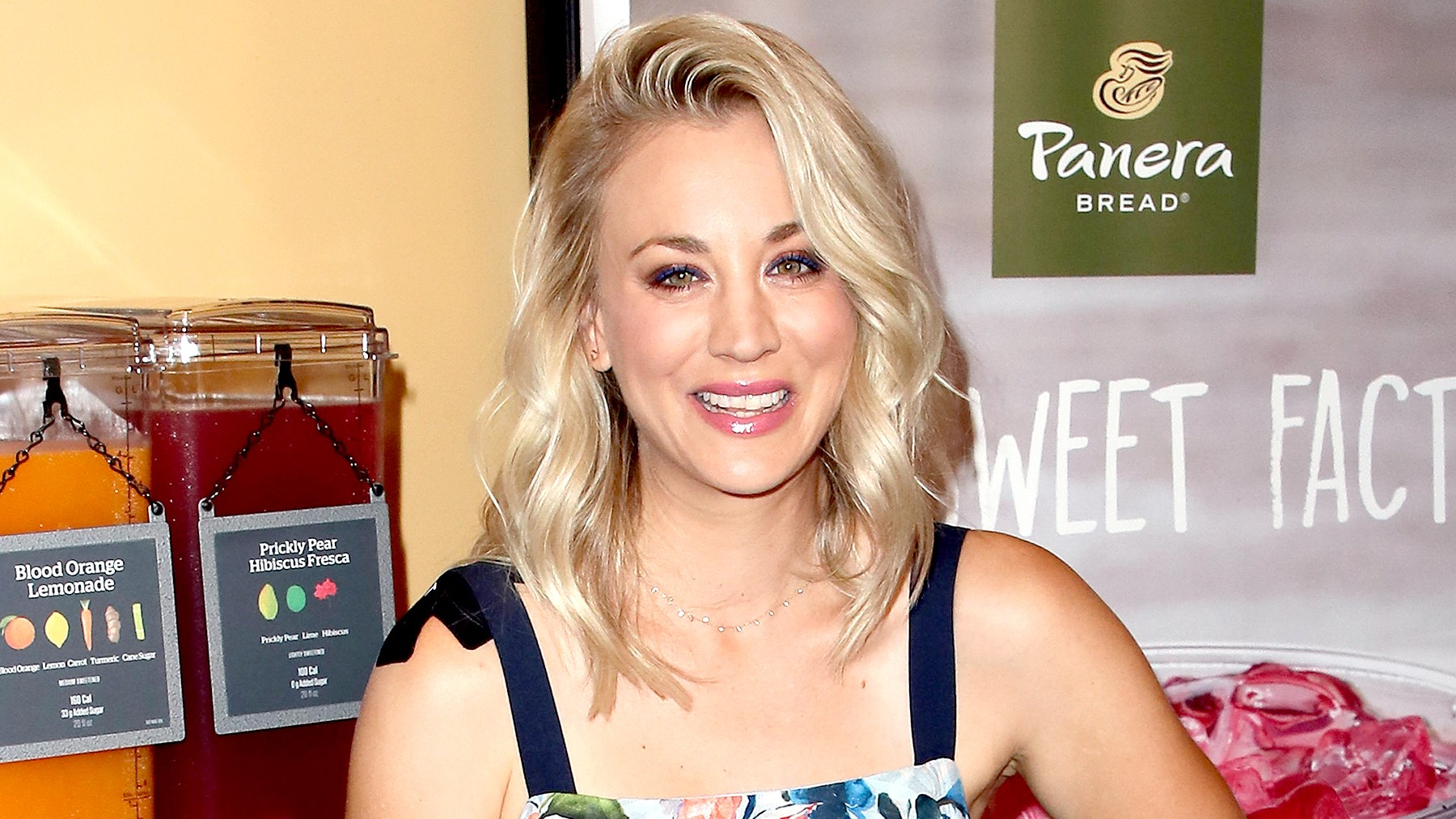 Kaley Cuoco joins Panera Bread to launch its new craft beverage station at Panera Bread on August 30, 2017 in Studio City, California.
