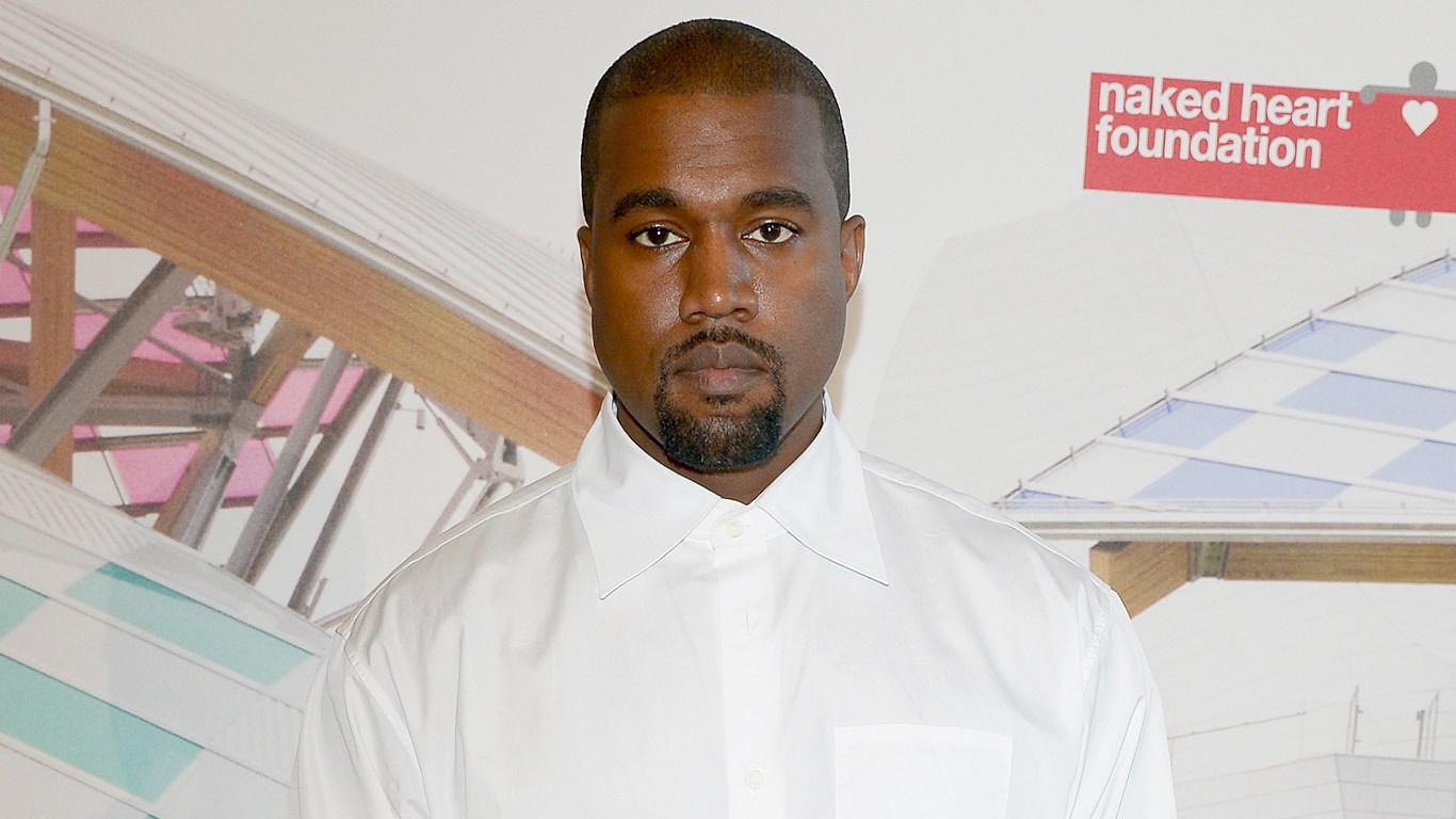 """Kanye West attends the """"The Art of Giving"""" Love Ball Naked Heart Foundation Photo Call as part of Paris Fashion Week Haute Couture Fall/Winter 2016-2017 on July 6, 2016 in Paris, France."""
