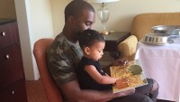 Kanye West reads to North West