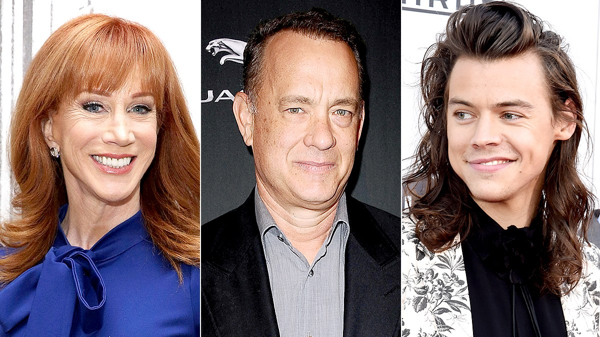 Kathy Griffin, Tom Hanks, and Harry Styles