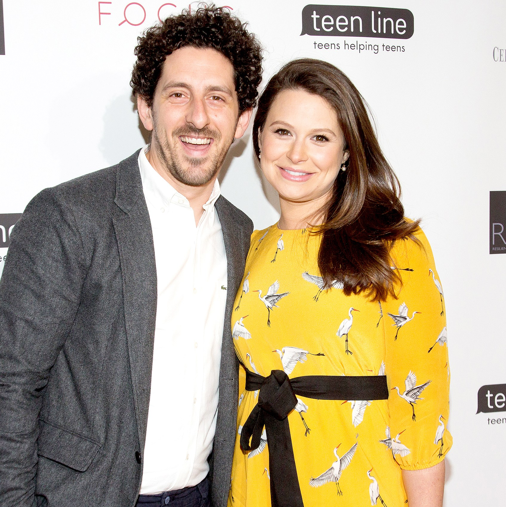 Adam Shapiro and Katie Lowes arrive for Teen Line's Food For Thought Luncheon - The Power of Empathy at The Beverly Hilton Hotel on May 25, 2017 in Beverly Hills, California.