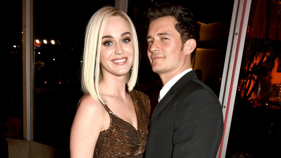 Katy Perry and Orlando Bloom attend the 2017 Vanity Fair Oscar Party hosted by Graydon Carter at Wallis Annenberg Center for the Performing Arts on February 26, 2017 in Beverly Hills, California.