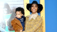 """Kelly Rowland and Titan Rowland attend the premiere Of Universal Pictures' """"Sing"""" on December 3, 2016 in Los Angeles, California."""