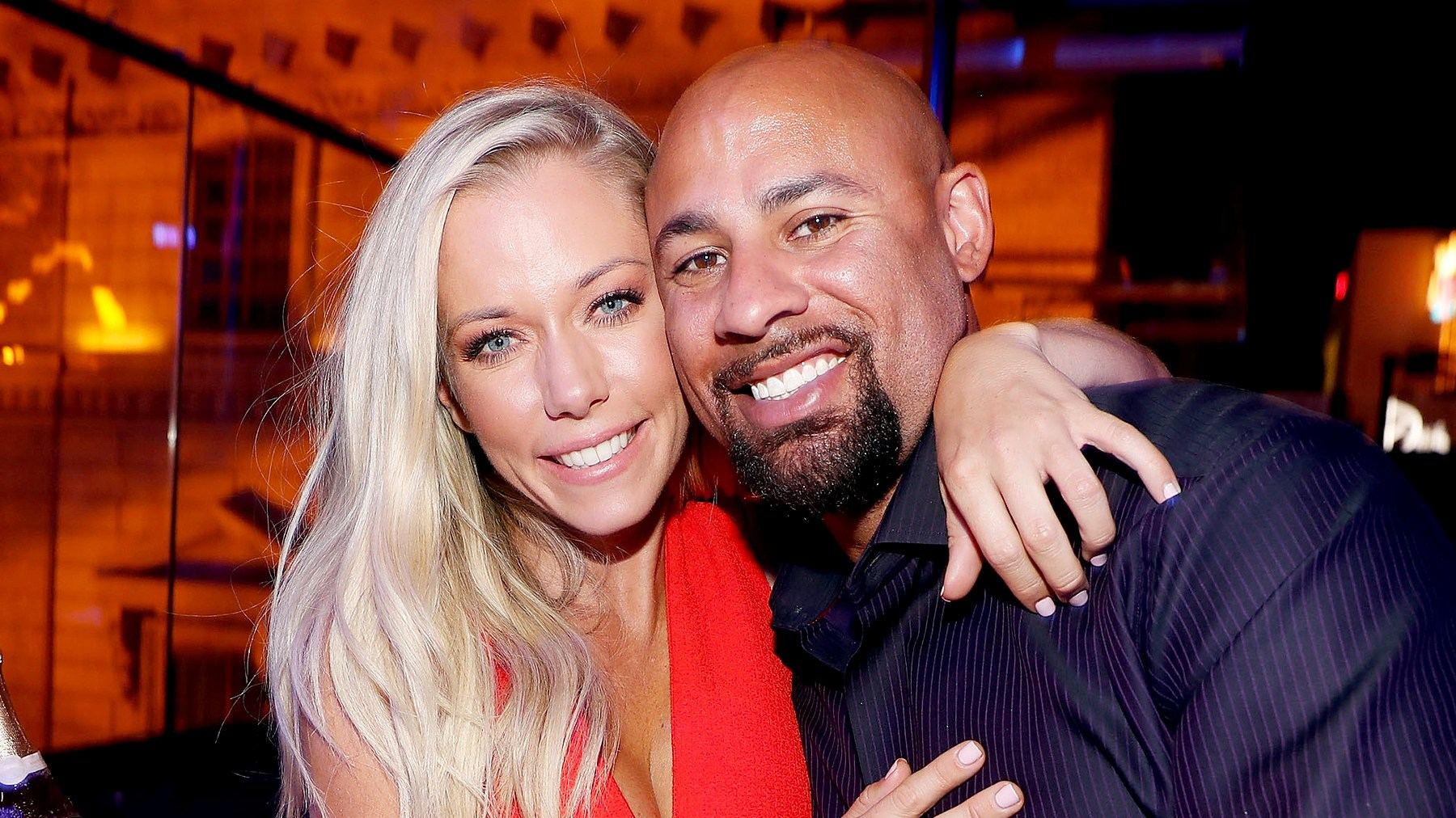 """Kendra Wilkinson and Hank Baskett celebrates Wilkinson's birthday during the premiere celebration for WE tv's """"Kendra on Top"""" and """"Sex Tips for Straight Women from a Gay Man"""" on June 8, 2017 in Las Vegas, Nevada."""