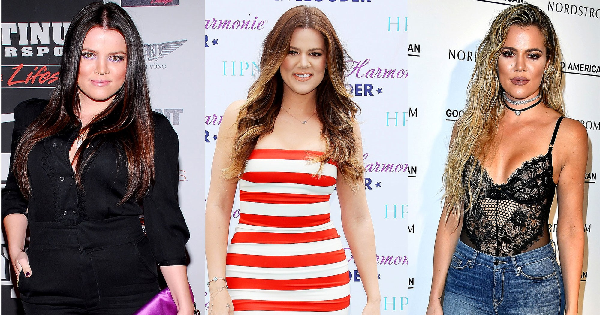 khloe kardashians body evolution