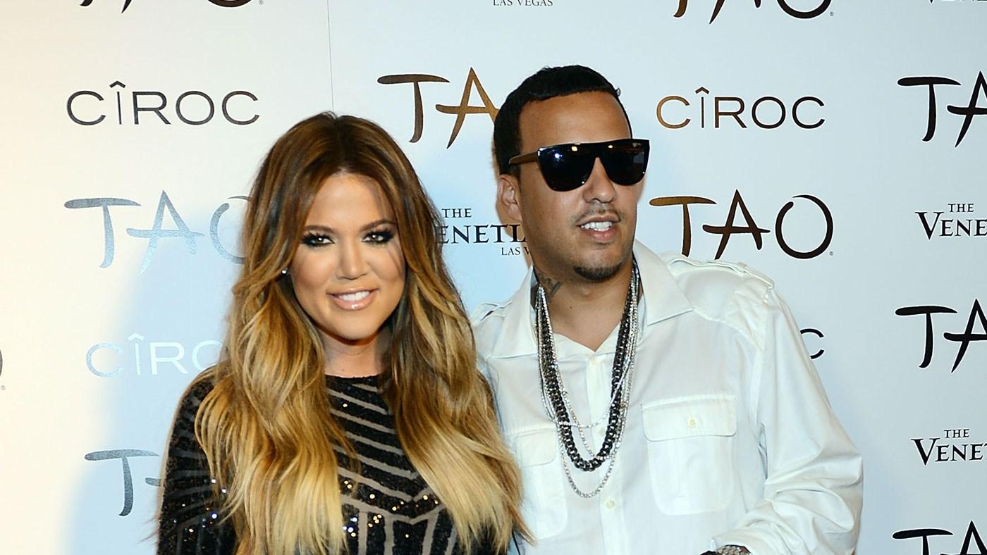 Khloe Kardashian and French Montana at Khloe Kardashian's 30th birthday party in Las Vegas