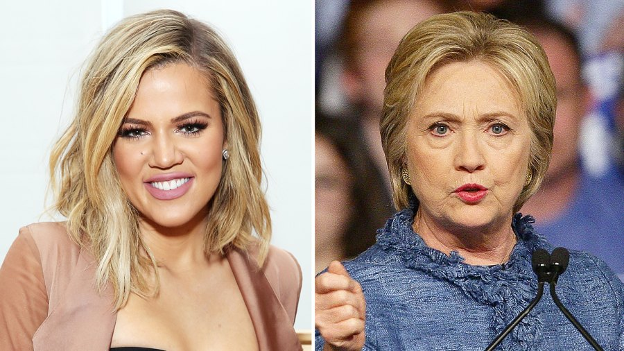 Khloe Kardashian and Hillary Clinton