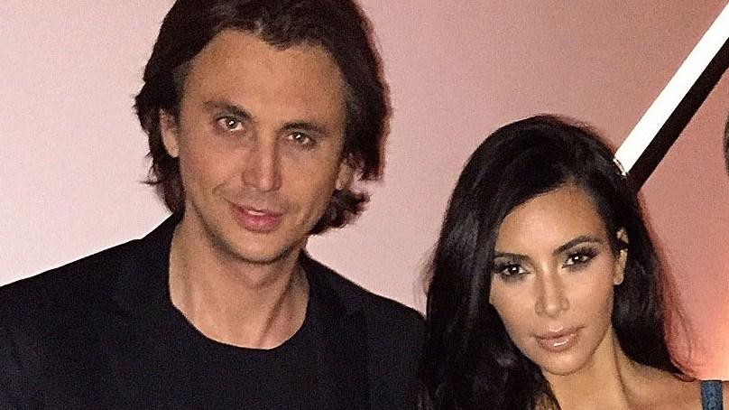 Kim Kardashian and Jonathan Cheban