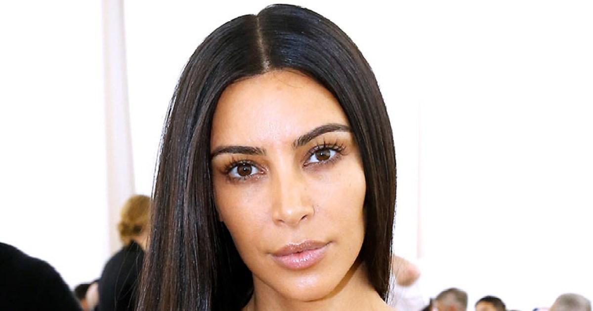 Kim Kardashian Goes Without Makeup at Paris Fashion Week