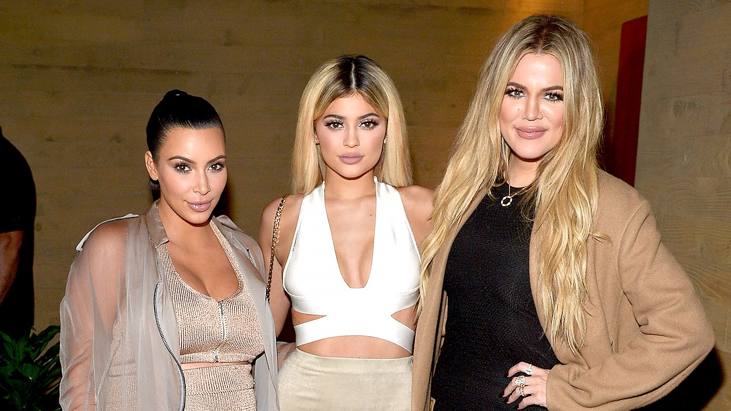 Kim Kardashian West, Kylie Jenner, Khloe Kardashian host a dinner and preview of their new apps launching soon at Nobu Malibu on September 1, 2015 in Malibu, California.