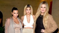 Kim Kardashian West, Kylie Jenner, Khloe Kardashian host a dinner and preview of their new apps launching soon at Nobu Malibu on September 1, 2015 in Malibu, California.