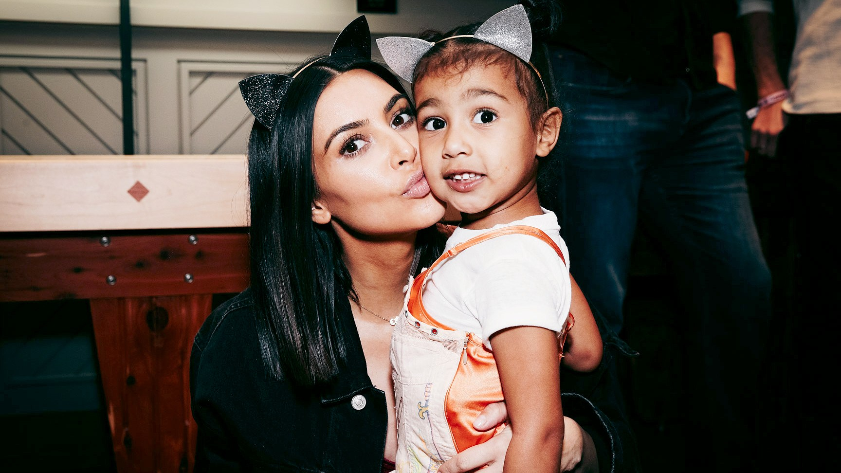 Kim Kardashian and North West in Inglewood, California, on March 31, 2017.