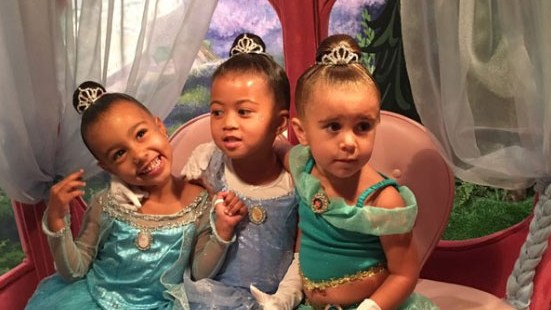 North West and Penelop Disick have princess makeovers at Disneyland