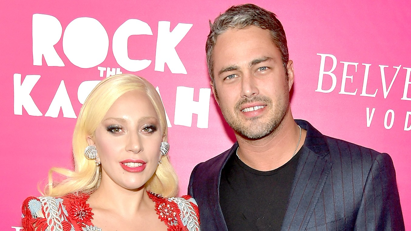 "Lady Gaga and Taylor Kinney attend the ""Rock The Kasbah"" New York Premiere at AMC Loews Lincoln Square 13 theater on October 19, 2015 in New York City."