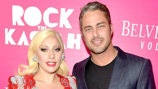 """Lady Gaga and Taylor Kinney attend the """"Rock The Kasbah"""" New York Premiere at AMC Loews Lincoln Square 13 theater on October 19, 2015 in New York City."""