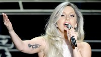 Lady Gaga performs onstage during the 87th Annual Academy Awards.