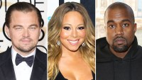 Leonardo DiCaprio, Mariah Carey and Kanye West
