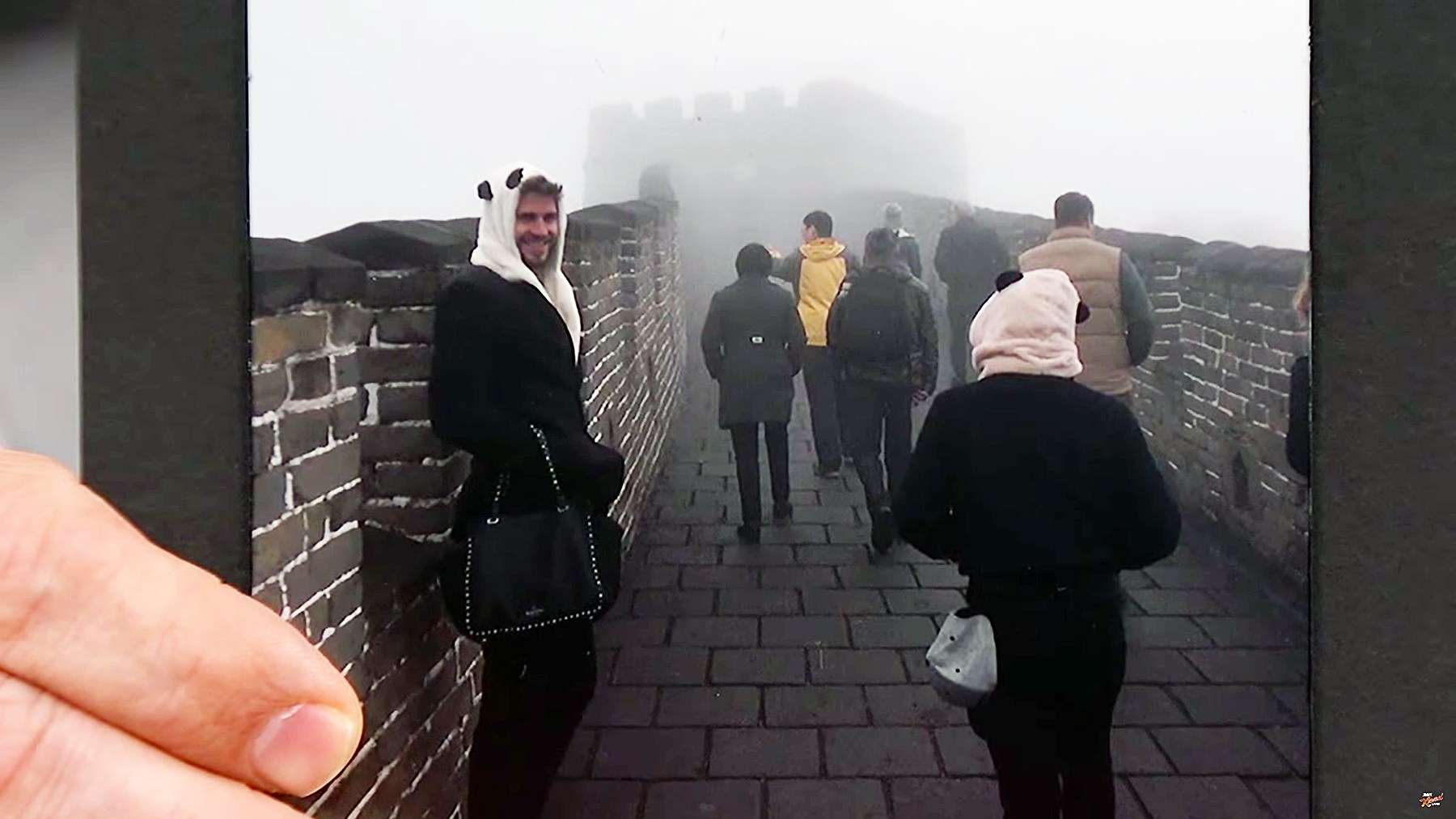 Liam Hemsworth at the Great Wall of China