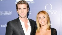 Liam Hemsworth and Miley Cyrus arrive at Australians In Film Awards & Benefit Dinner at InterContinental Hotel on June 27, 2012.