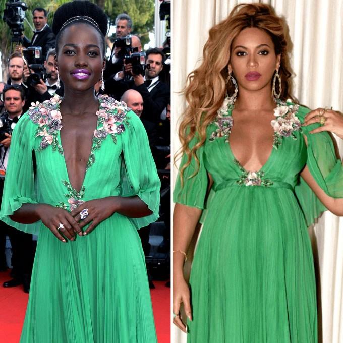 Lupita Nyong'o and Beyonce